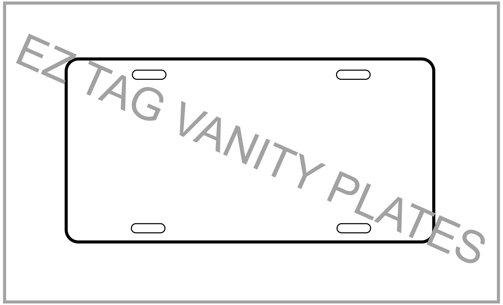 EZ Tag Vanity Plates- Motor Vehicle (100 pack)